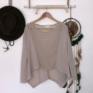 Staring at stars tan colored knit top size M